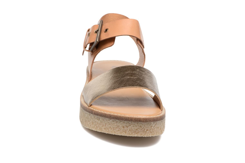 Sandaler Kickers Victory Guld og bronze se skoene på