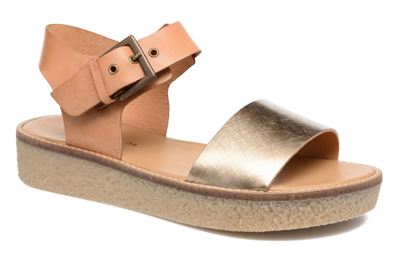Sandaler Kickers Victory Guld og bronze detaljeret billede af skoene