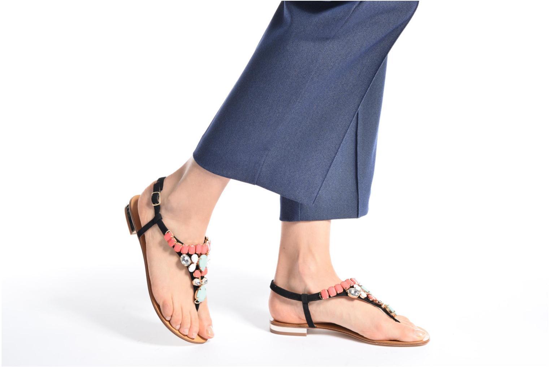 Sandalen COSMOPARIS Hania/Nub mehrfarbig ansicht von unten / tasche getragen