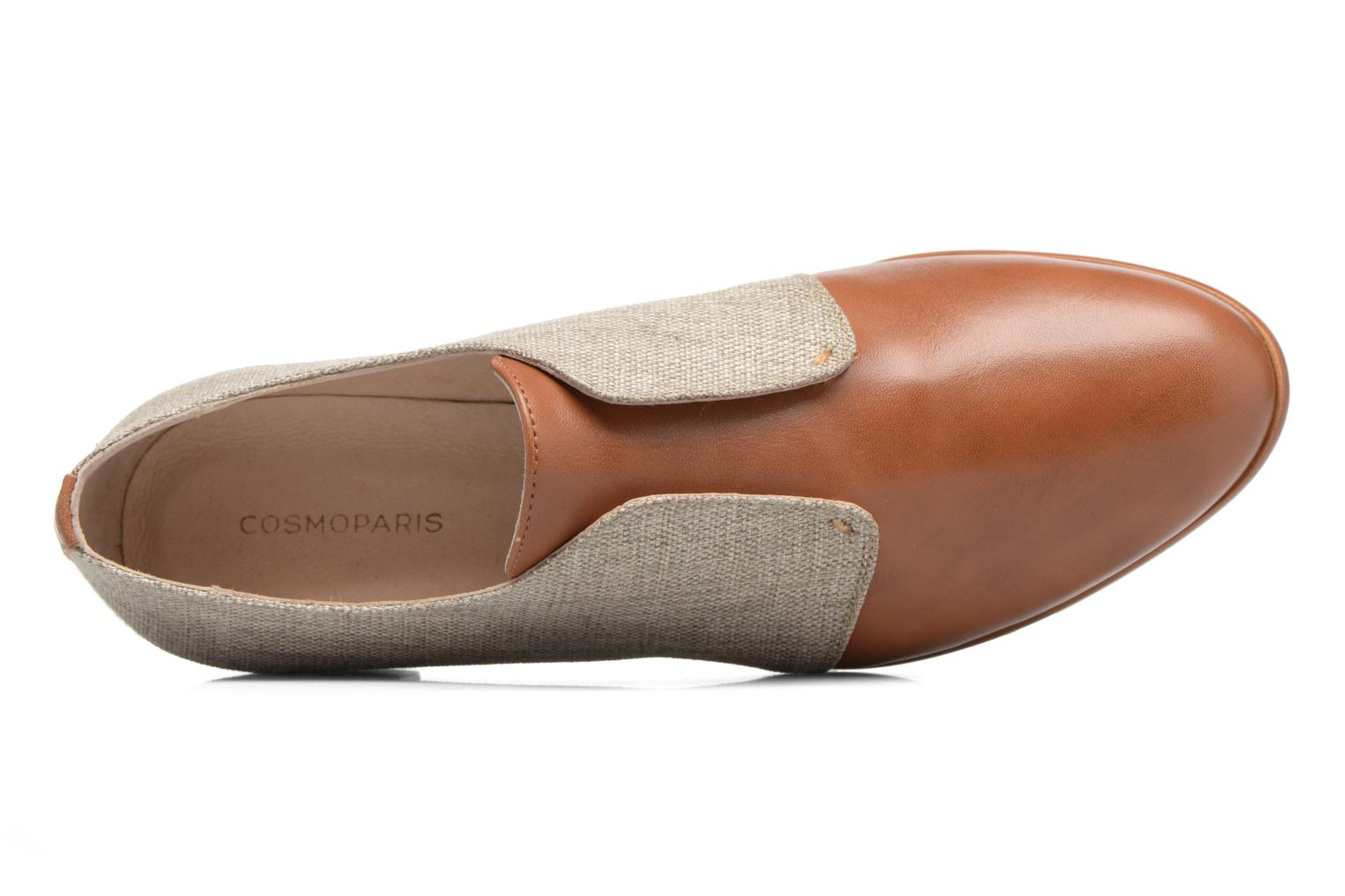 Loafers COSMOPARIS Emico/Lin Brown view from the left