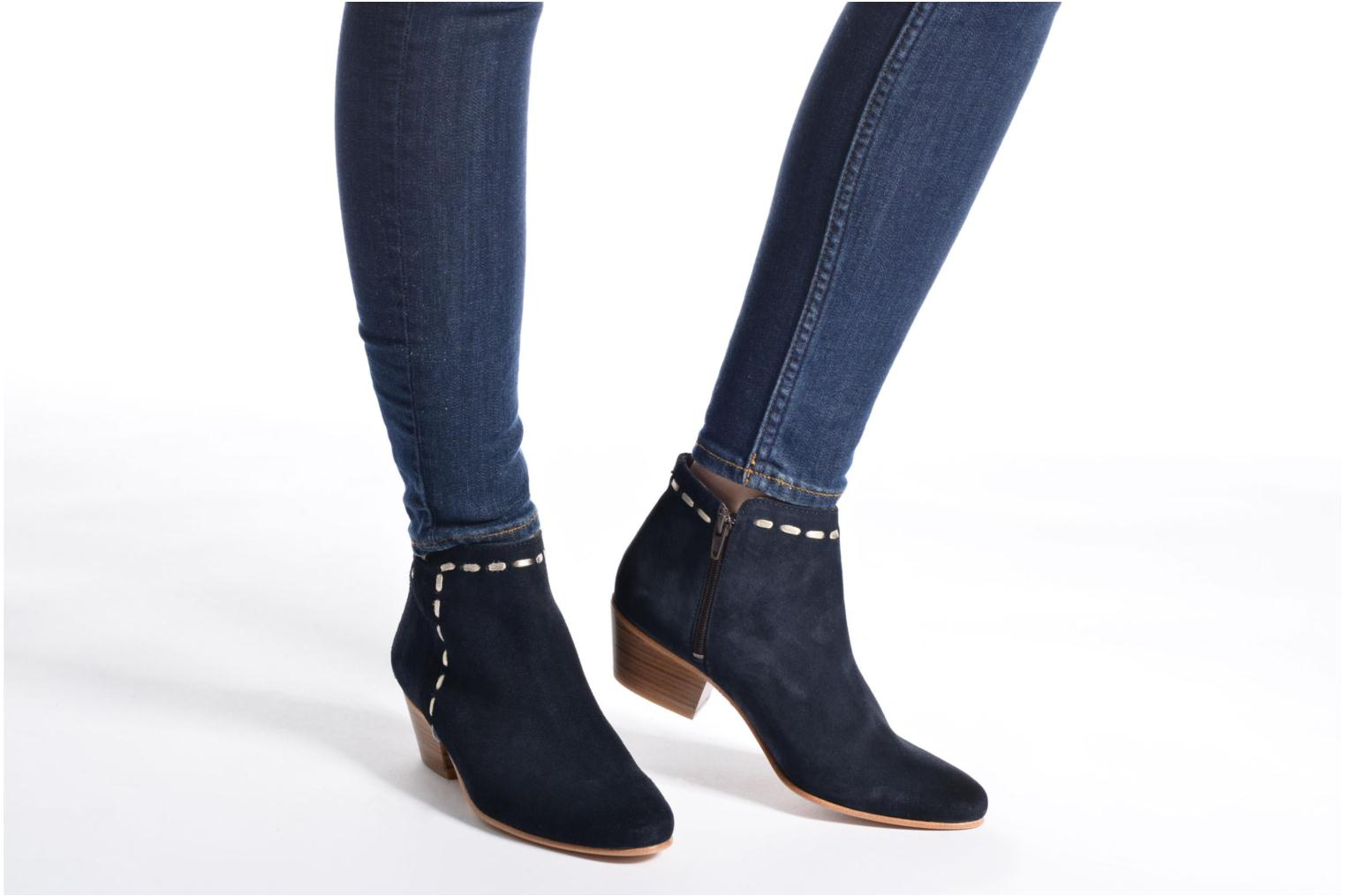 Ankle boots COSMOPARIS Fenoa/Vel Blue view from underneath / model view