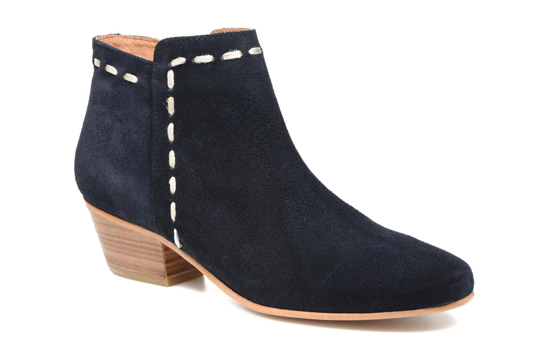 Ankle boots COSMOPARIS Fenoa/Vel Blue detailed view/ Pair view