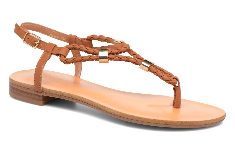 Sandales et nu-pieds COSMOPARIS Heloa/Tre Marron vue détail/paire