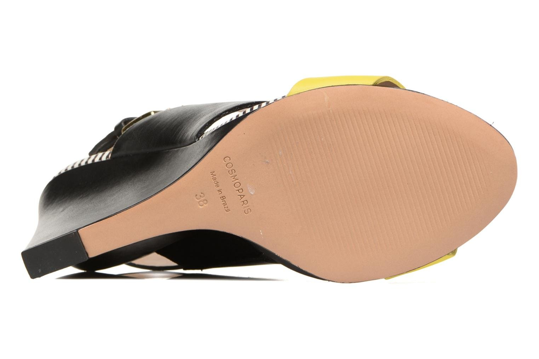Sandales et nu-pieds COSMOPARIS Jaka/Nub Noir vue haut