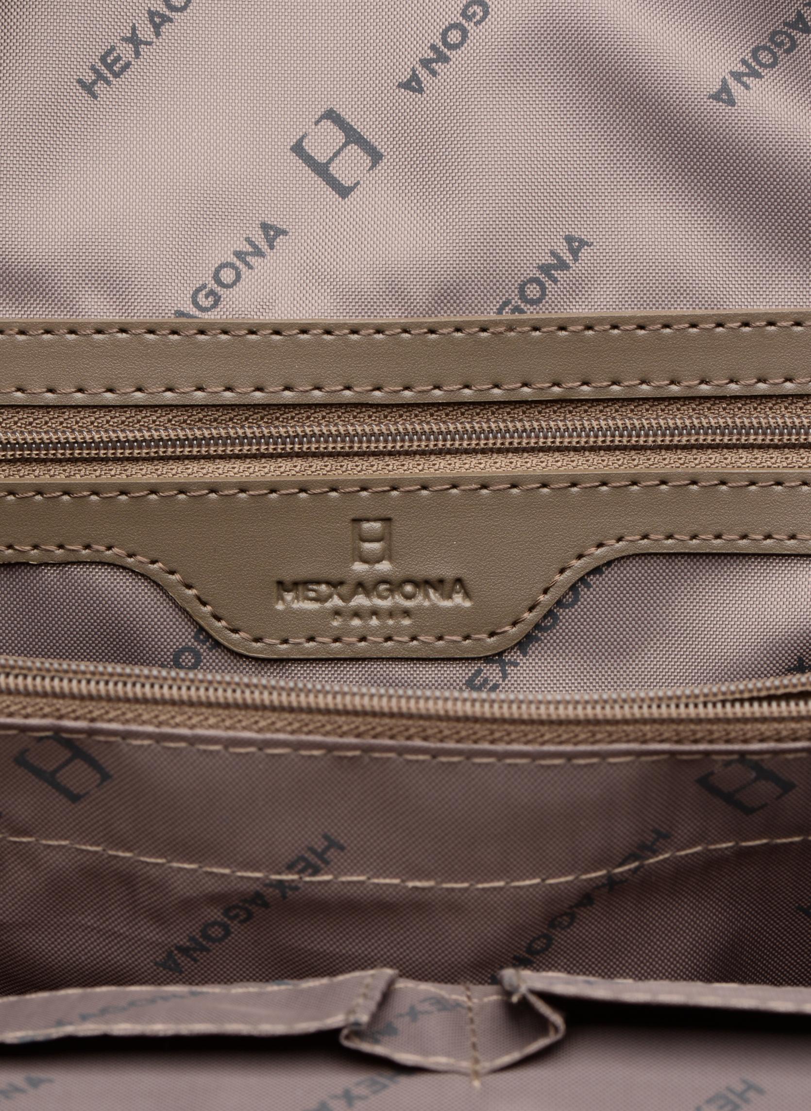 Rucksäcke Hexagona Sac à dos nylon beige ansicht von hinten