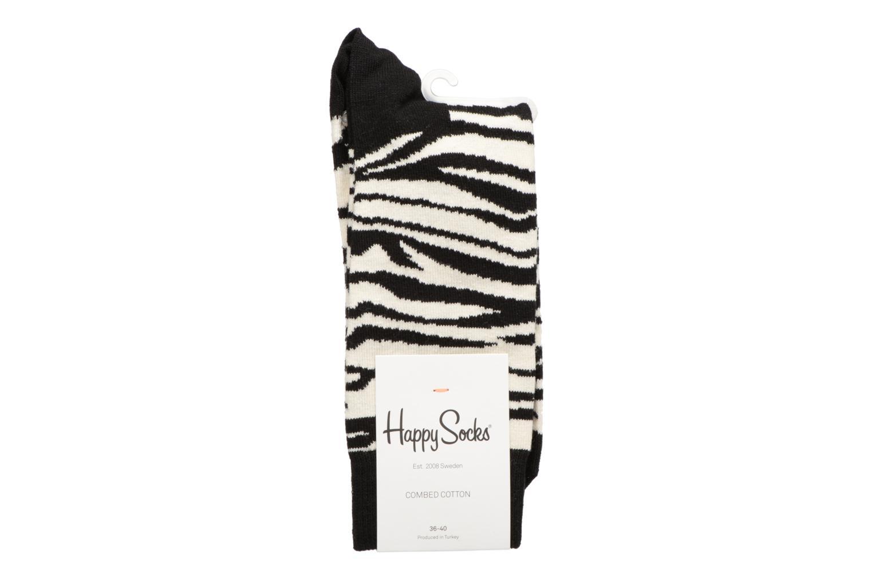 Chaussettes et collants Happy Socks Chaussettes Zebra Noir vue portées chaussures
