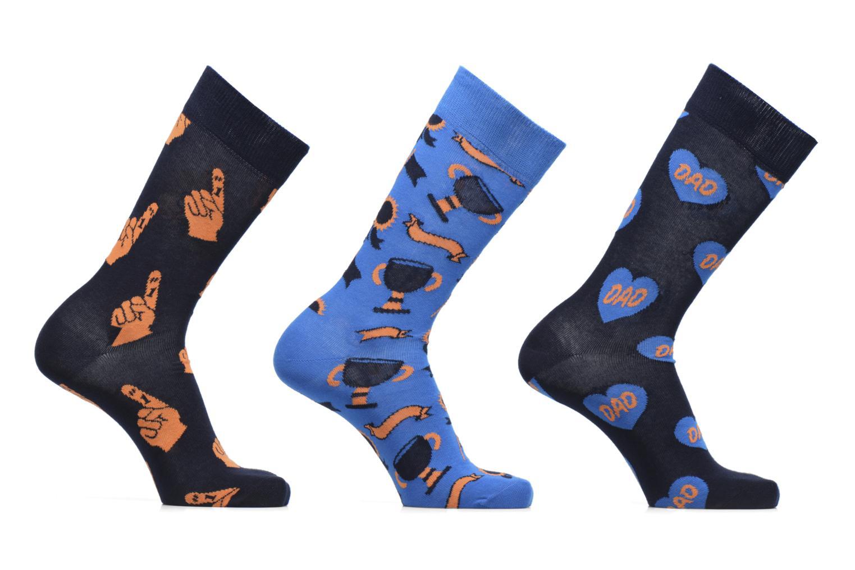 Strømper og tights Happy Socks Chaussettes Dad Gift box Blå se bagfra