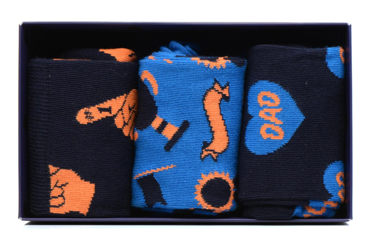 Sokken en panty's Happy Socks Chaussettes Dad Gift box Blauw detail