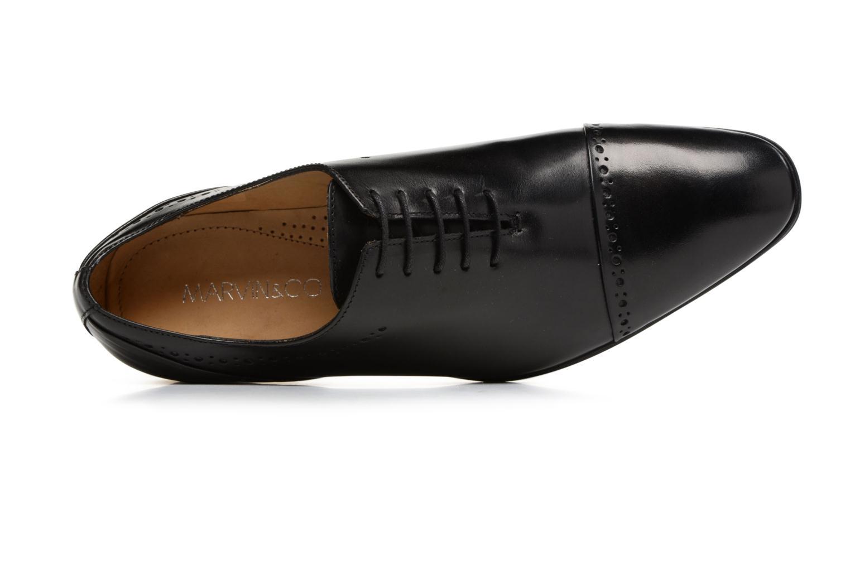 Zapatos con cordones Marvin&Co Tarbert Negro vista lateral izquierda