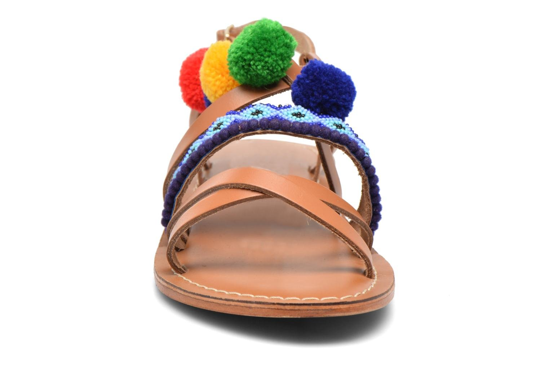 Sandali e scarpe aperte L'Atelier Tropézien Popo Marrone modello indossato