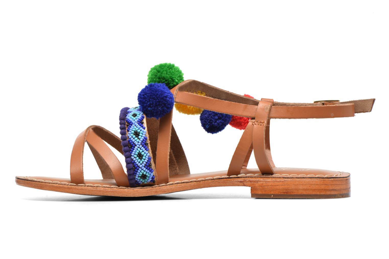 Sandalen L'Atelier Tropézien Popo braun ansicht von vorne