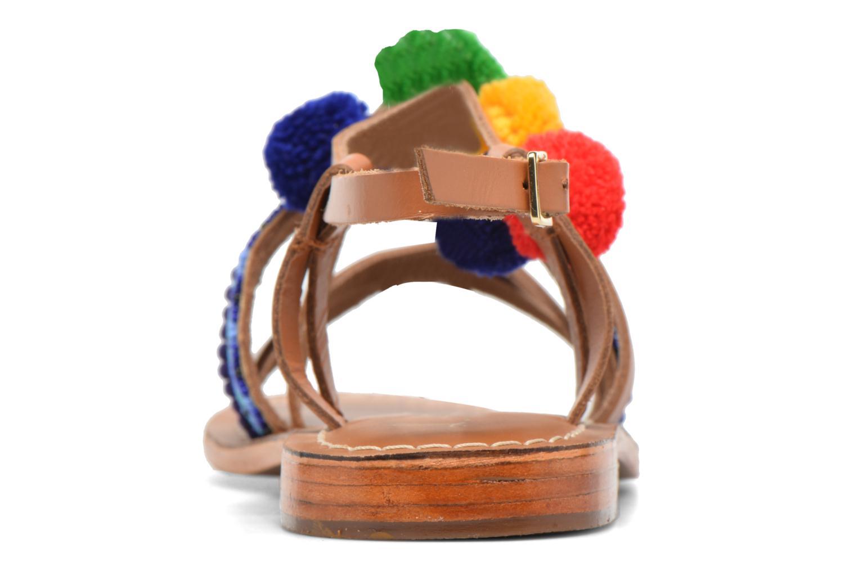 Sandali e scarpe aperte L'Atelier Tropézien Popo Marrone immagine destra