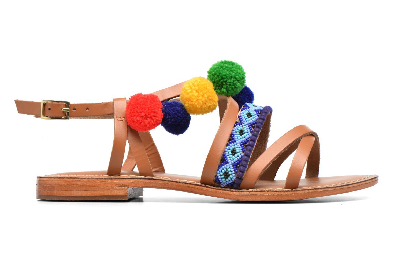 Sandalen L'Atelier Tropézien Popo braun ansicht von hinten