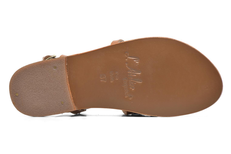 Sandali e scarpe aperte L'Atelier Tropézien Popo Marrone immagine dall'alto