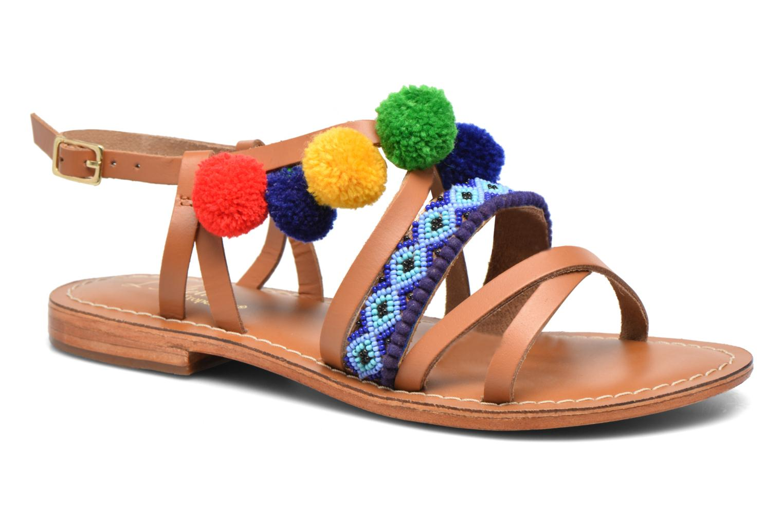 Sandalen L'Atelier Tropézien Popo braun detaillierte ansicht/modell