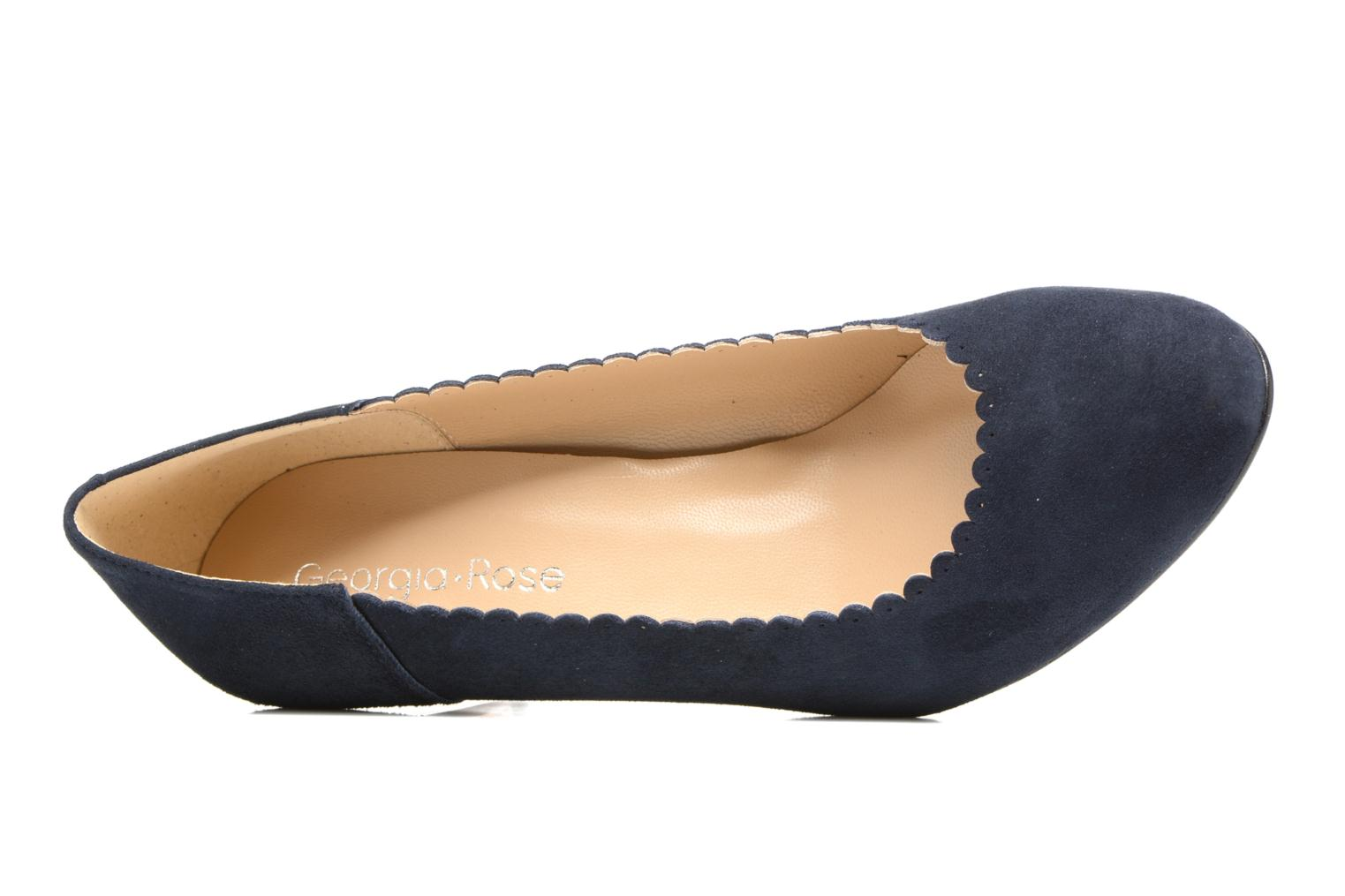 Pumps Georgia Rose Saston blau ansicht von links