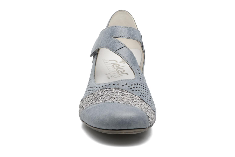 Escarpins Rieker Loupi 41743 Bleu vue portées chaussures
