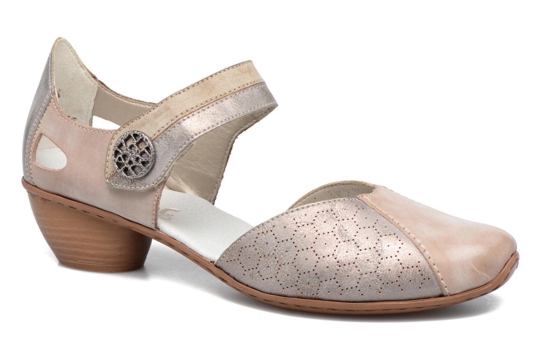 Høje hæle Rieker Coir 43716 Grå detaljeret billede af skoene