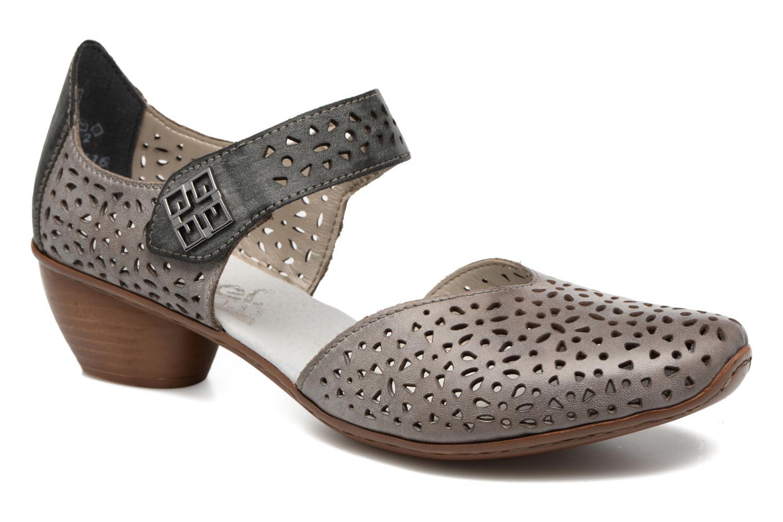 Høje hæle Rieker Daam 43791 Grå detaljeret billede af skoene