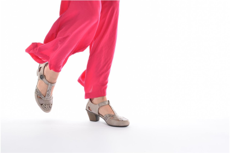 Zapatos de tacón Rieker Har 45092 Beige vista de abajo