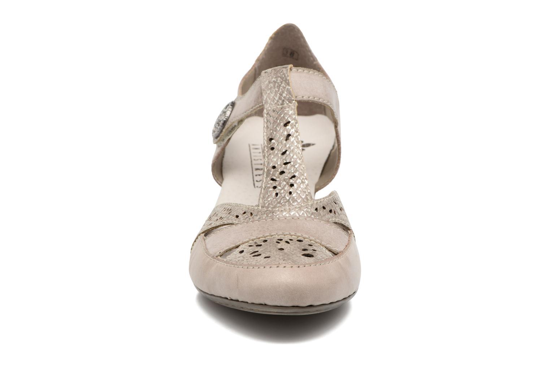 Zapatos de tacón Rieker Har 45092 Beige vista del modelo