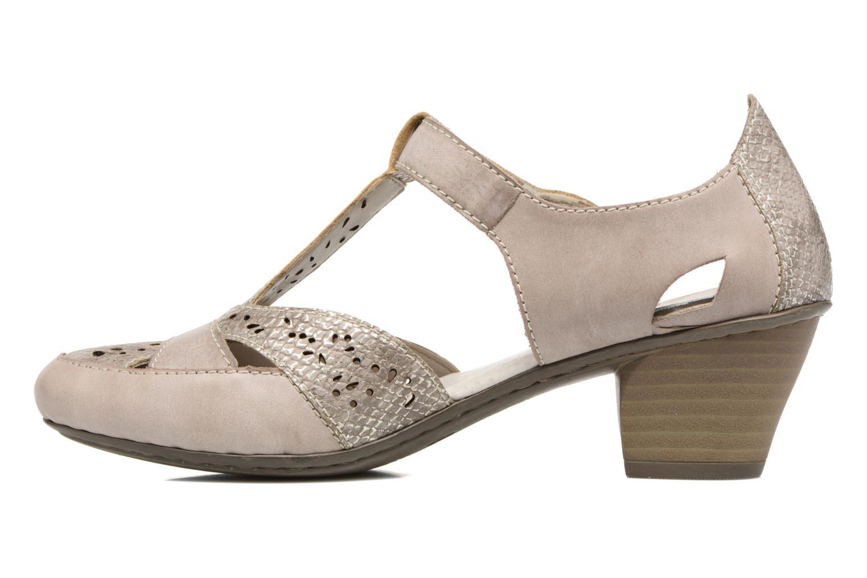 Zapatos de tacón Rieker Har 45092 Beige vista de frente