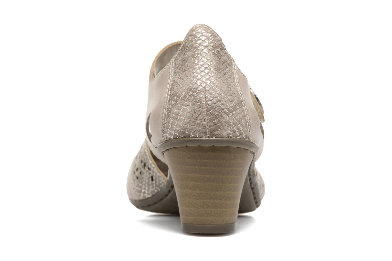 Zapatos de tacón Rieker Har 45092 Beige vista lateral derecha