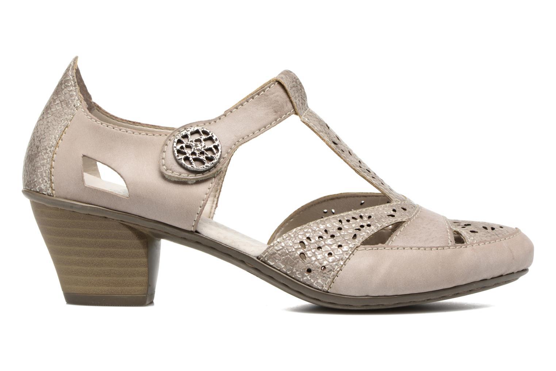 Zapatos de tacón Rieker Har 45092 Beige vistra trasera