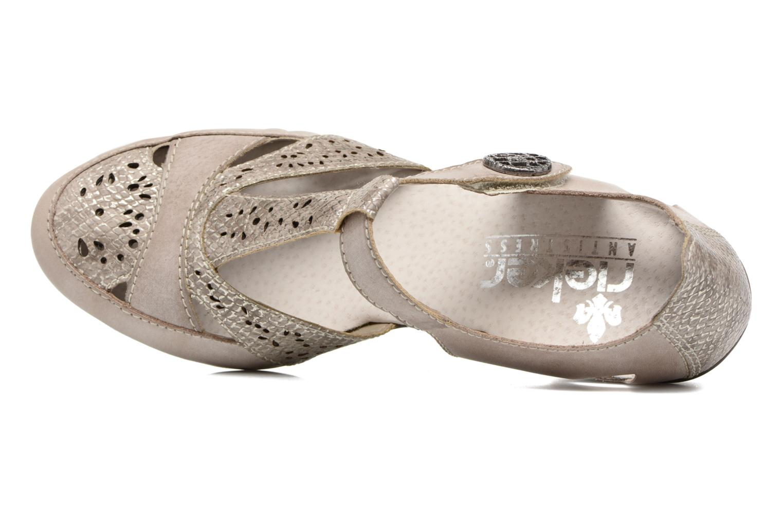Zapatos de tacón Rieker Har 45092 Beige vista lateral izquierda