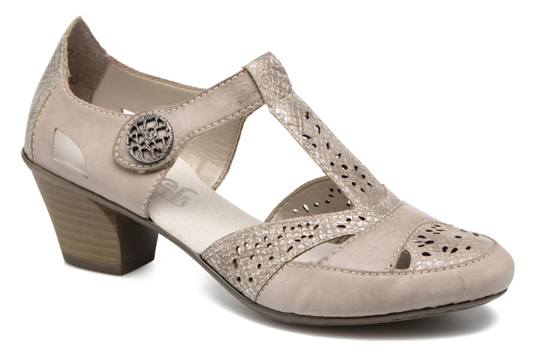 Zapatos de tacón Rieker Har 45092 Beige vista de detalle / par