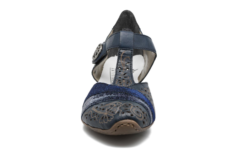 Escarpins Rieker Pouw 49751 Bleu vue portées chaussures