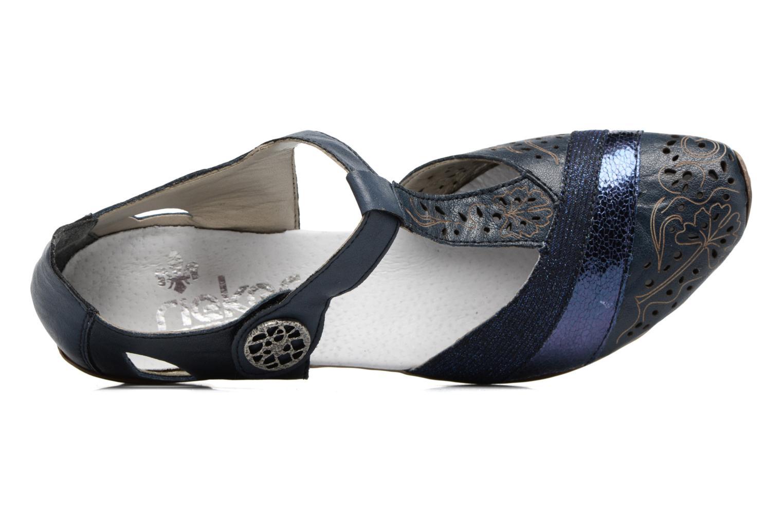 Escarpins Rieker Pouw 49751 Bleu vue gauche