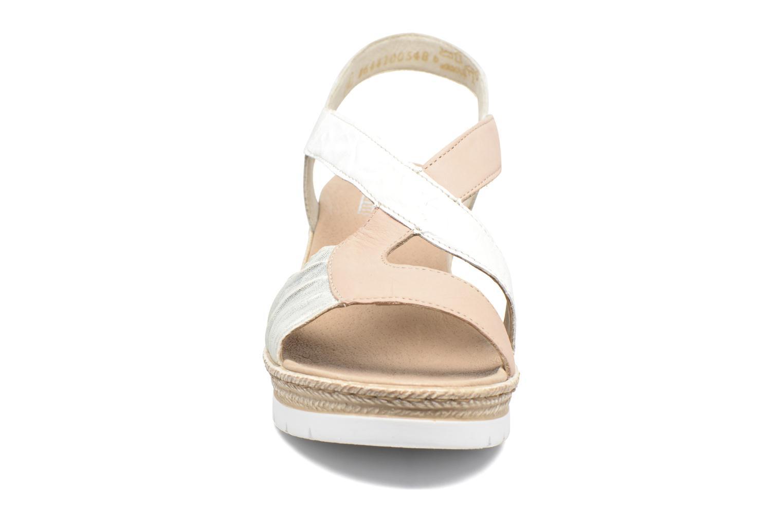 Sandales et nu-pieds Rieker Lijdia 61973 Blanc vue portées chaussures