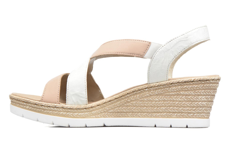 Sandales et nu-pieds Rieker Lijdia 61973 Blanc vue face