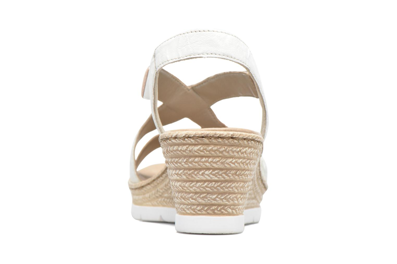 Sandales et nu-pieds Rieker Lijdia 61973 Blanc vue droite