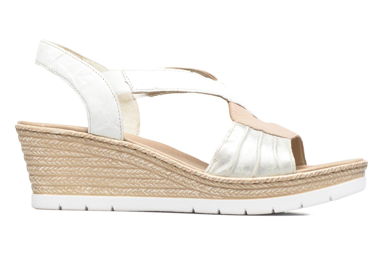 Sandales et nu-pieds Rieker Lijdia 61973 Blanc vue derrière