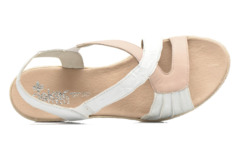 Sandales et nu-pieds Rieker Lijdia 61973 Blanc vue gauche