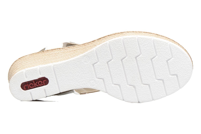 Sandales et nu-pieds Rieker Lijdia 61973 Blanc vue haut