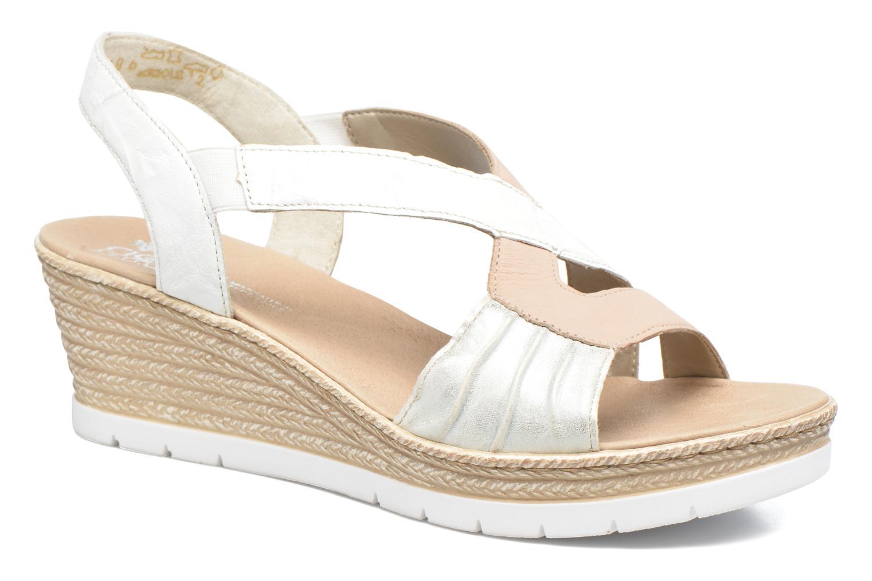 Sandales et nu-pieds Rieker Lijdia 61973 Blanc vue détail/paire