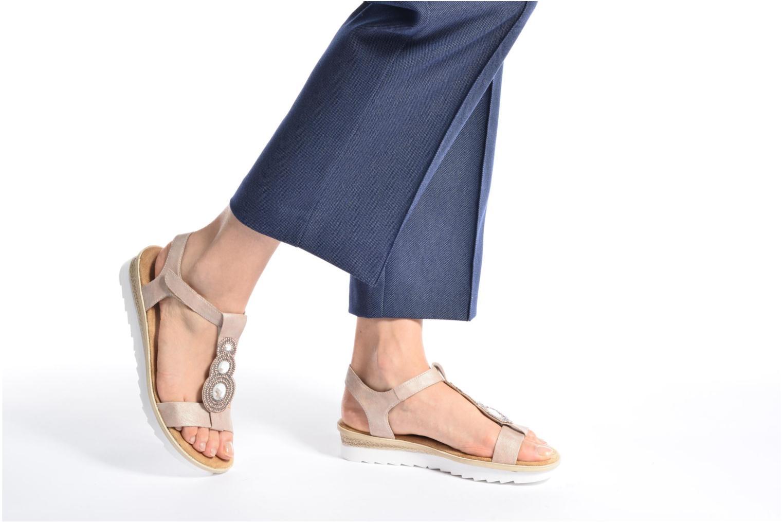 Sandales et nu-pieds Rieker Jutte 63184 Beige vue bas / vue portée sac