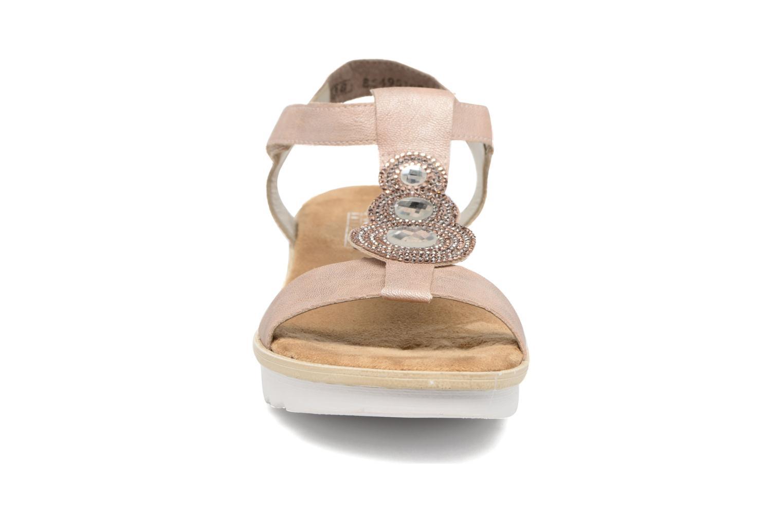 Sandales et nu-pieds Rieker Jutte 63184 Beige vue portées chaussures