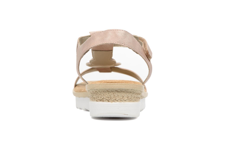 Sandales et nu-pieds Rieker Jutte 63184 Beige vue droite