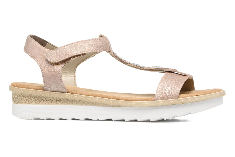 Sandales et nu-pieds Rieker Jutte 63184 Beige vue derrière