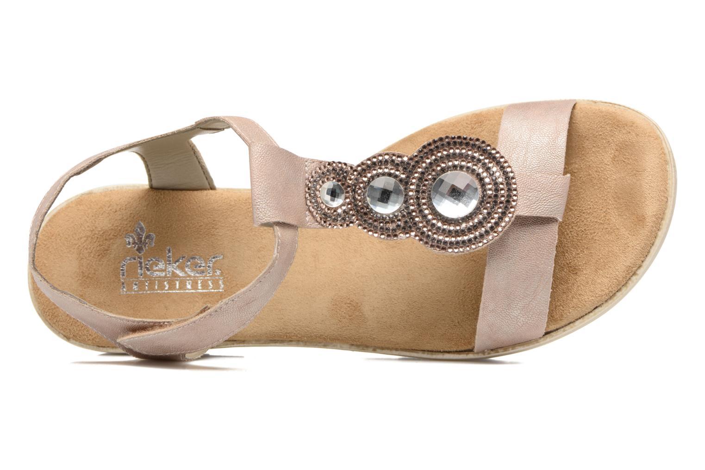 Sandales et nu-pieds Rieker Jutte 63184 Beige vue gauche