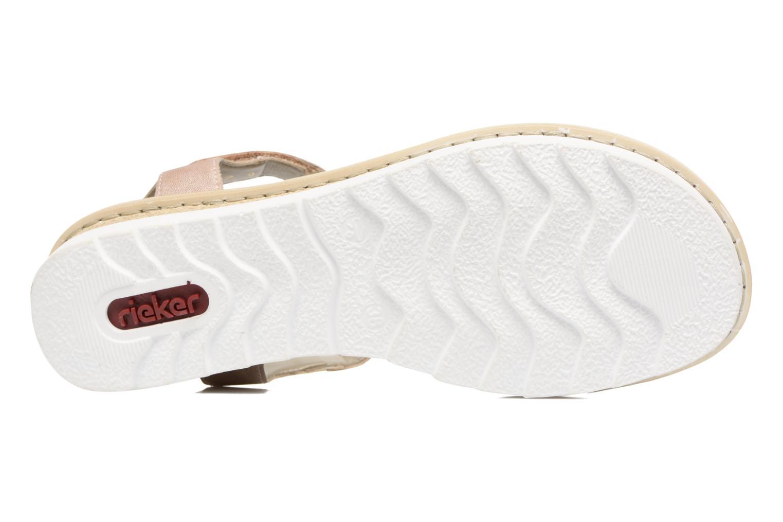 Sandales et nu-pieds Rieker Jutte 63184 Beige vue haut