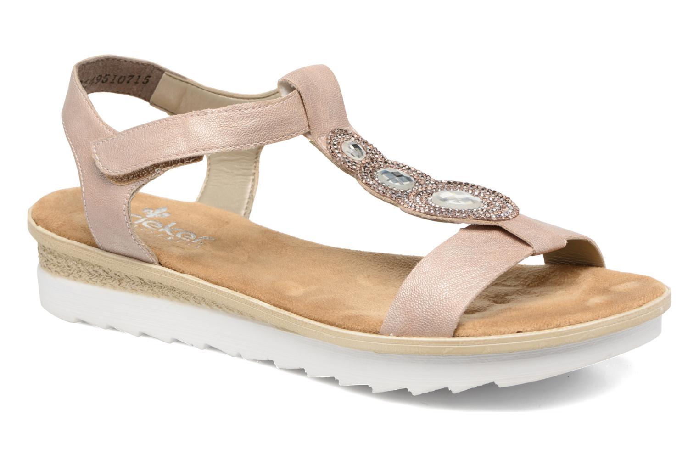 Sandales et nu-pieds Rieker Jutte 63184 Beige vue détail/paire