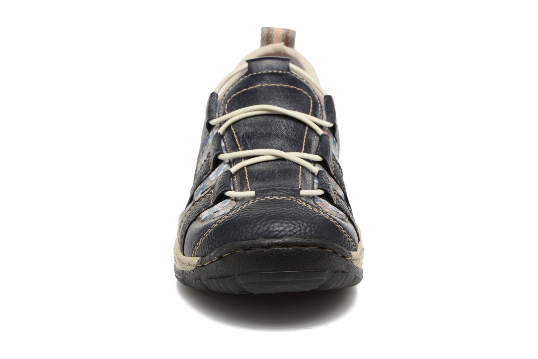 Baskets Rieker Lord 0561 Bleu vue portées chaussures