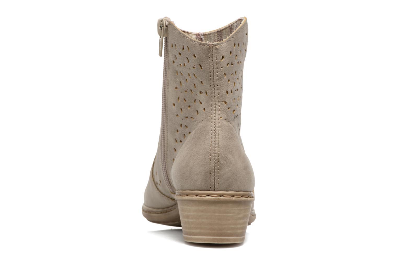 Bottines et boots Rieker Dale 0766 Beige vue droite