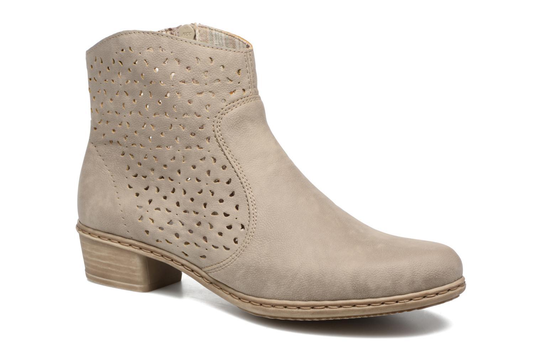 Bottines et boots Rieker Dale 0766 Beige vue détail/paire