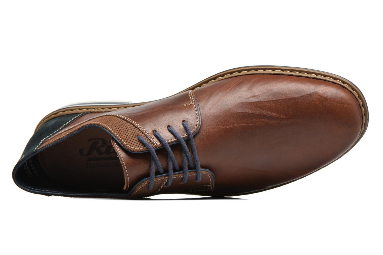 Chaussures à lacets Rieker Wouter B1403 Marron vue gauche